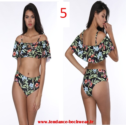 b62da5a3e5 Maillots de bain femme été 2018 2019 Bikinis Taille Haute Bateau une ...