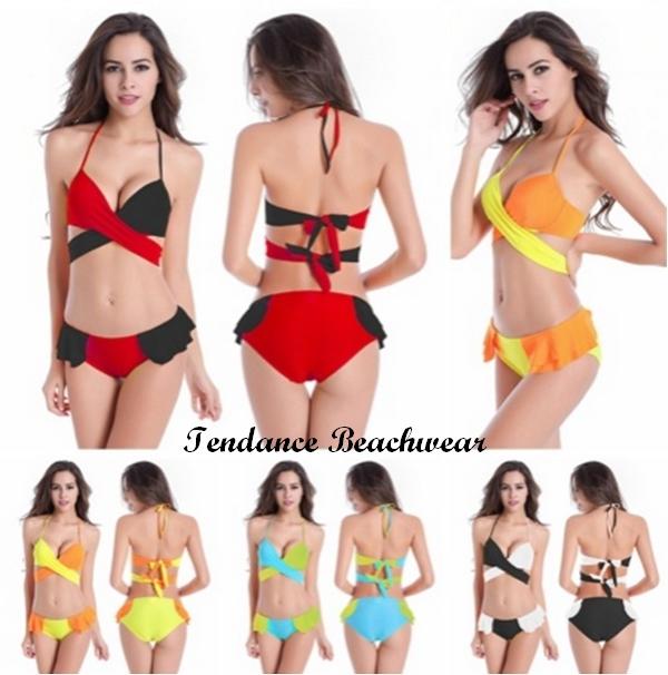 Bikini 2017 Acier bonnet B-B-D 4 couleurs 2018 (rouge - noir, jaune - orange, bleu - vert, noir - blanc)