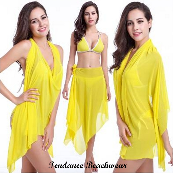 Robe de plage 2017 jaune 2018 beach dress